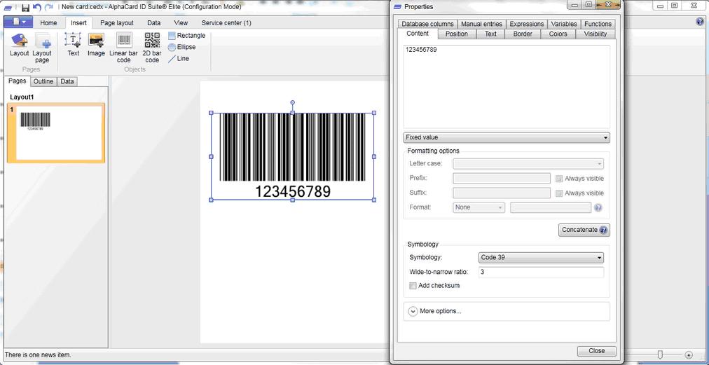 1D Barcodes