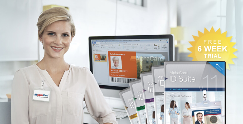 Get a free six week trial of AlphaCard ID Suite software