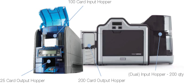 Input and Output hopper capacities of two printers