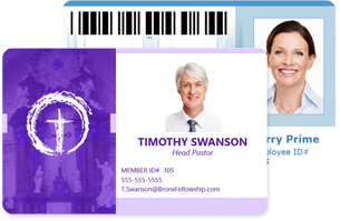 Church ID Cards  Membership Cards Templates