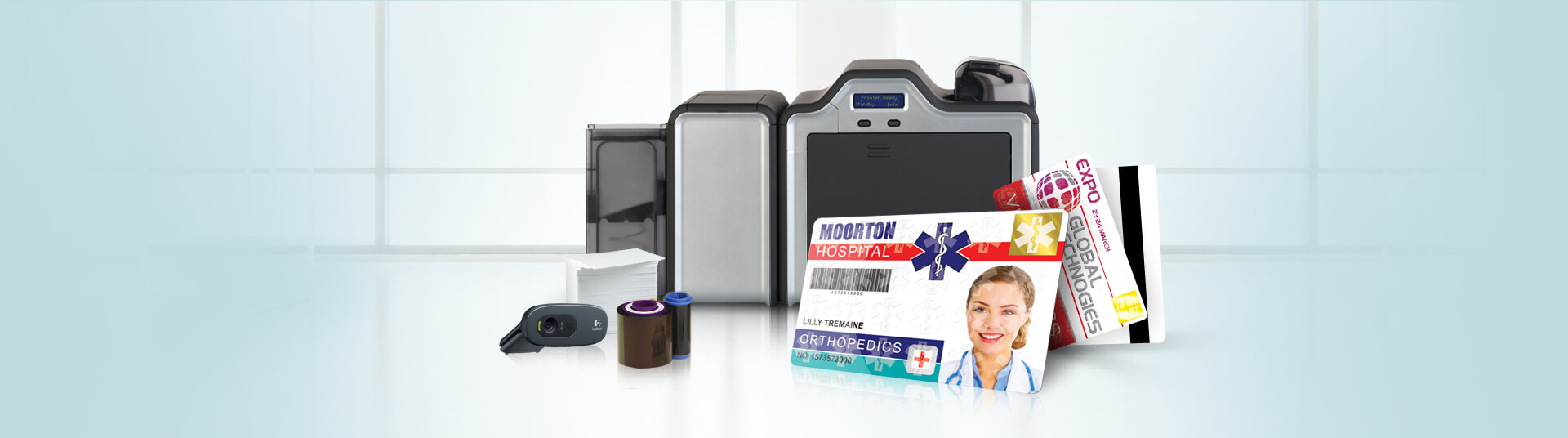 Hospital ID Badges with Zebra Eltron Photo ID Printers