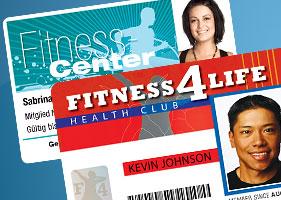Gym health club id card systems