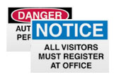 Visitor Management Signs