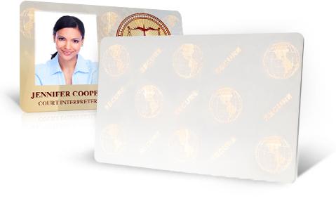 Zebra Hologram Cards
