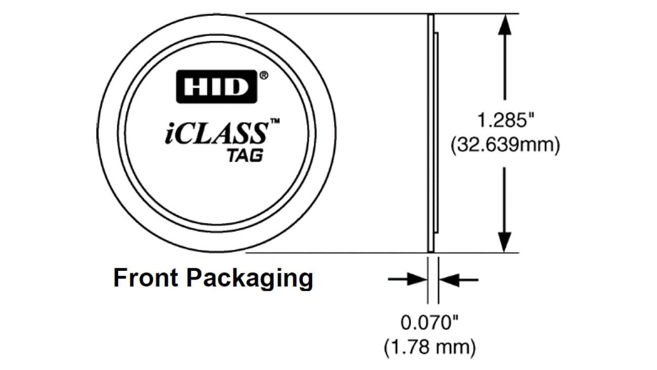 HID iCLASS Smart Card Adhesive Tag – 206 | AlphaCard