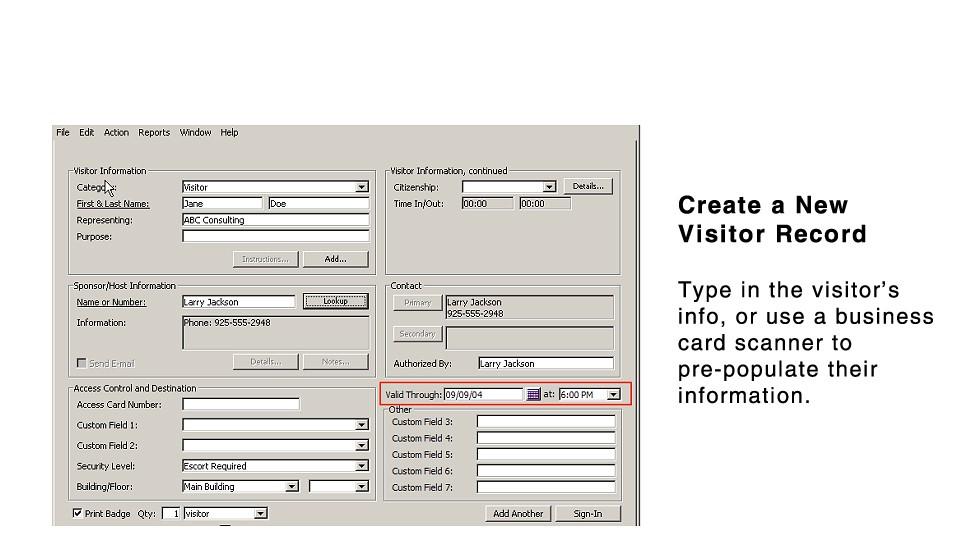 Basic Visitor Management System Alphacard Com