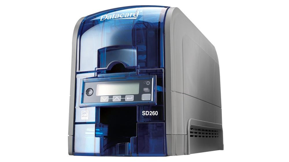 Entrust Datacard SD160 ID Card Printer-Magnetic Encoding, ISO-100 Card Hopper