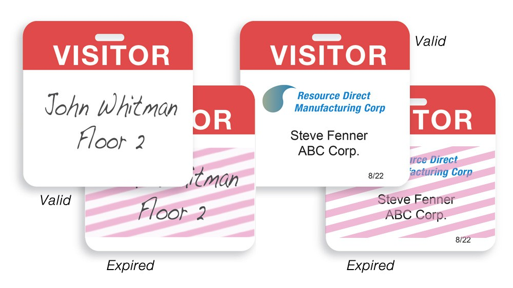 Visitor Expiring At AlphaCard - Visitor badge template