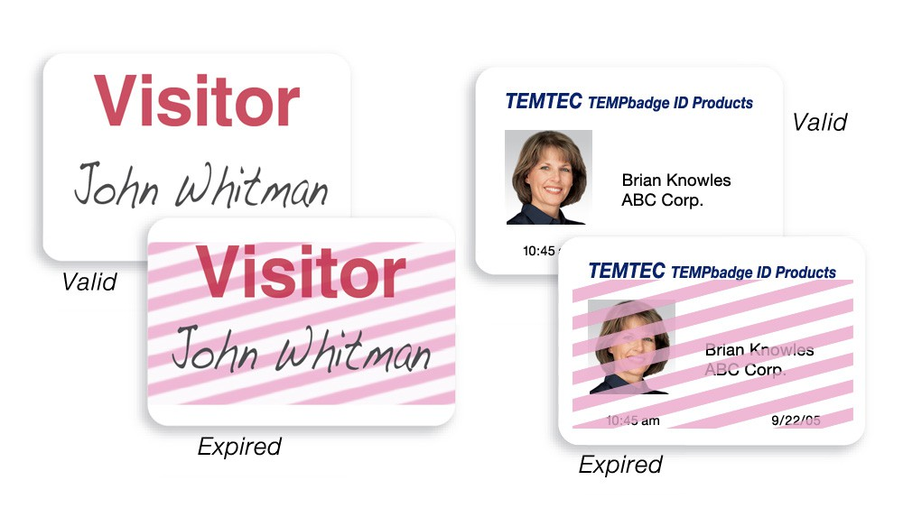 Adhesive Expiring Visitor Badges