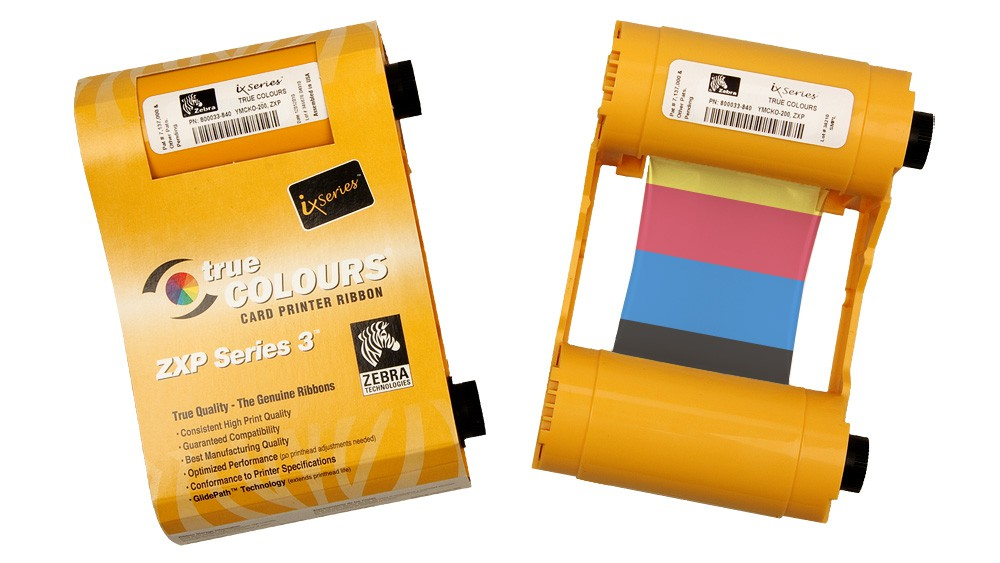 Zebra YMCKO ZXP Series 3 Color Ribbon - 200 Prints