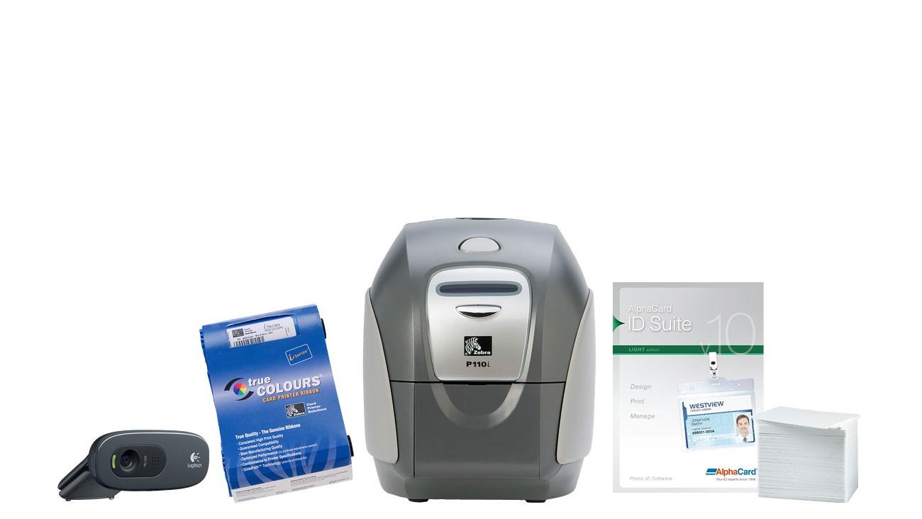 Zebra P110i ID Card Printer System