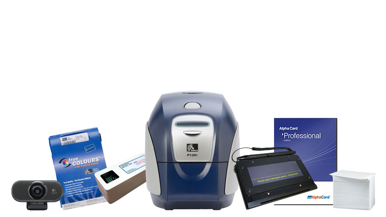 Zebra P120i Dual Sided Data Capture ID Card Printer System