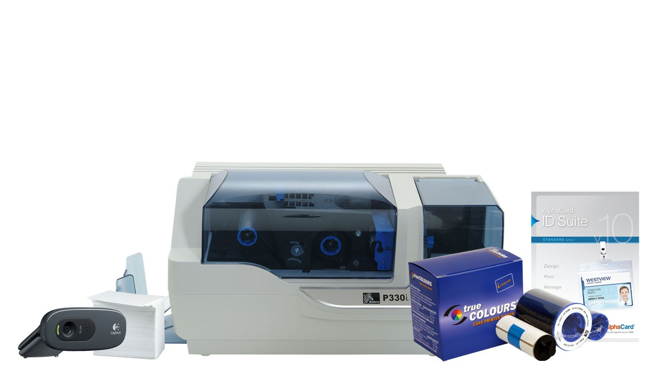 Zebra P330i Id Card Printer System