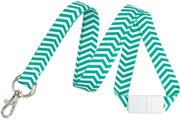 "Fashion 5/8"" Chevron Lanyards – Pack of 10"
