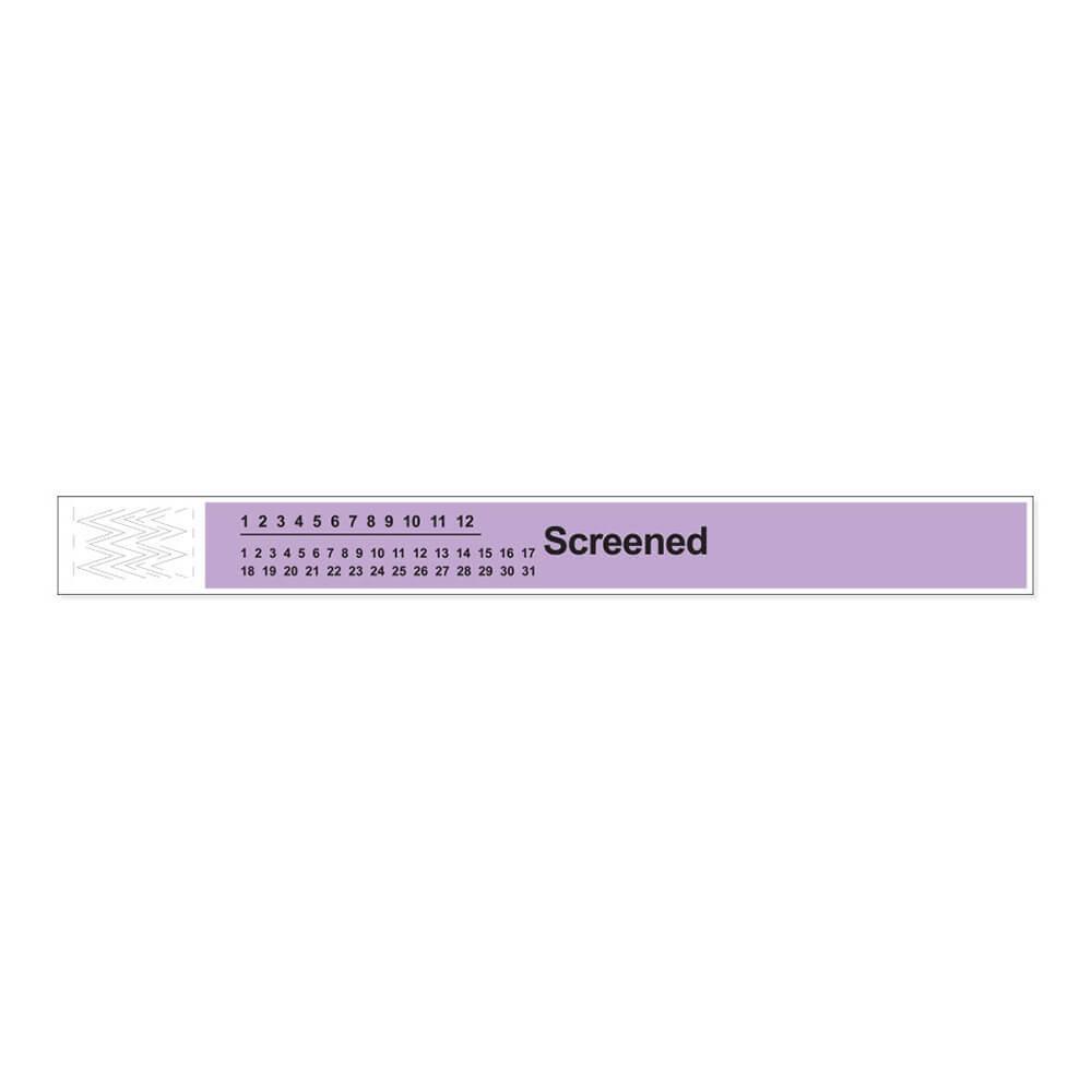 Short Stay Tyvek Screened Wristband