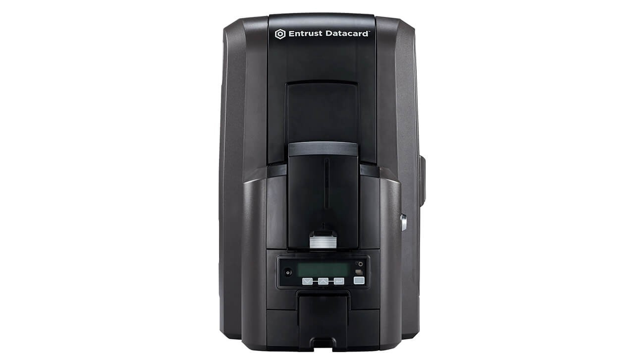 Entrust Datacard CR805 Duplex Retransfer Printer, 125-Card Input Hopper, ISO Magnetic Stripe (includes Debow) - 3 year standard warranty