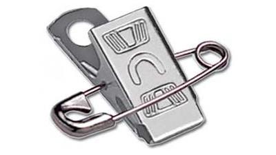Attachable Embossed U Pin-Clip - 500