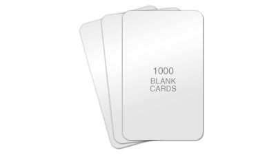 Standard Blank PVC Cards, CR80 - 1000 count 10mil