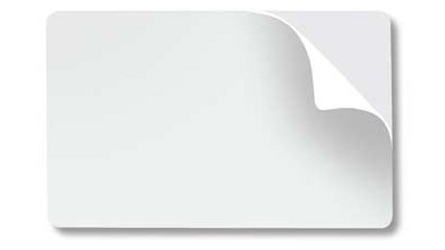 Adhesive Paper-Back Blank PVC Cards, CR79 10mil - 500 count