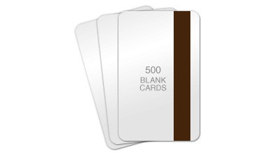 Hi-Co Magnetic Stripe Blank PVC Cards, CR80 30mil - 500 count