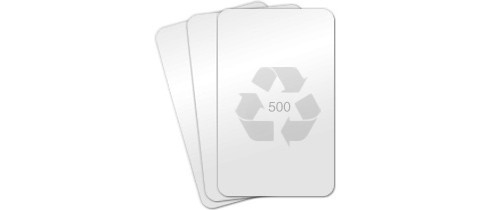 Recycled Blank PVC Cards, CR80 30mil - 100 count