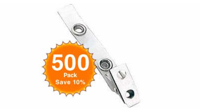 Snap Clip with Clear Vinyl Strap - Quantity of 500