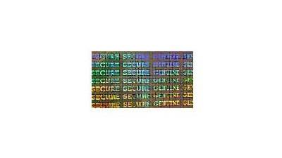 Zebra Peel-n-Stick Hologram - 500 patches