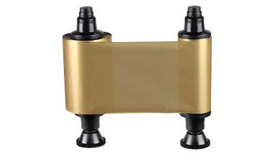 Evolis Primacy & Zenius RCT016 Metallic Gold Monochrome Ribbon