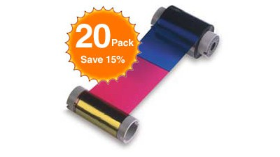 Fargo Color Ribbon YMCKO - 250 Prints - Quantity of 20