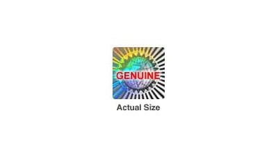 "Radiating Globe Hologram Sticker .75"" SQ - Roll of 100"