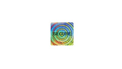"""Secure Hologram Sticker .75"""" SQ - Roll of 100"""