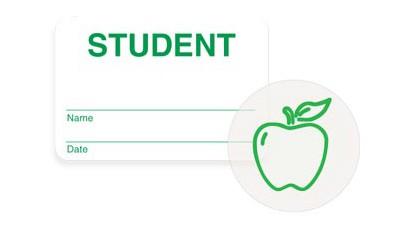 Expiring School Student Badge - 1000