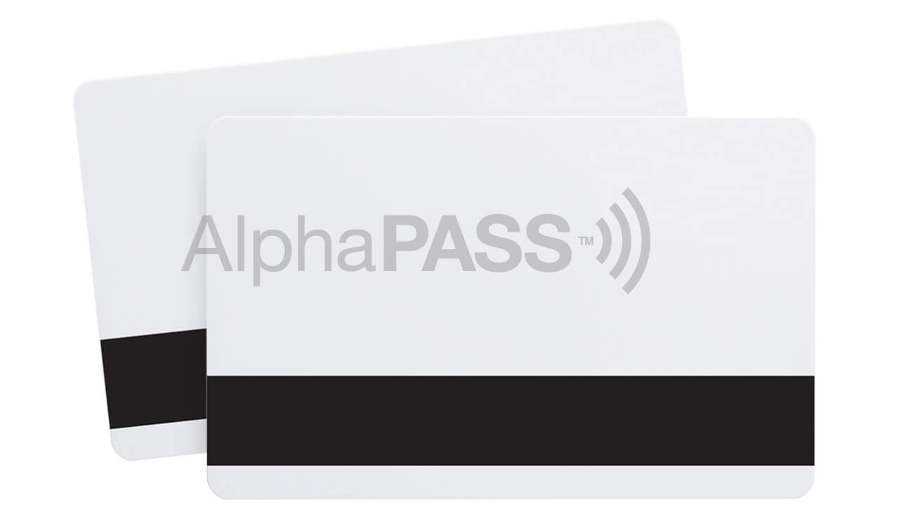 HID 1336 Compatible-AlphaPass PVC Prox Cards with HiCo Magnetic Stripe