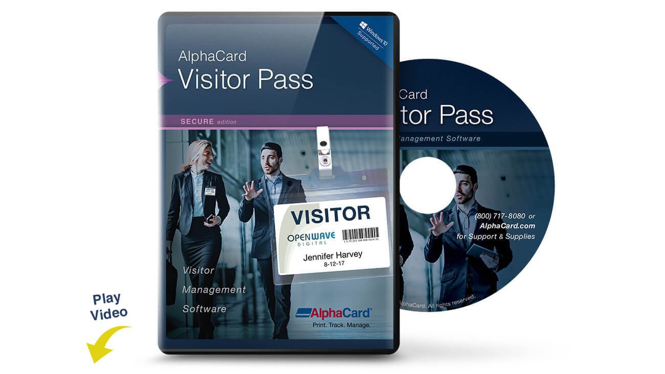 AlphaCard Visitor Pass Secure Software