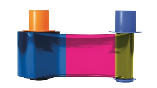 Fargo 45200 YMCKO Color Ribbon, 500 Prints