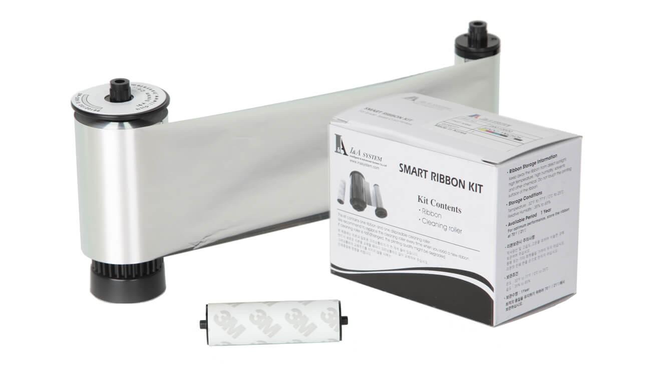 IDP Metallic Silver Monochrome Ribbon Kit - 1200 prints