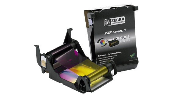 Zebra Load-N-Go color ribbon for ZXP Series 1 - YMCKO, 100 Prints