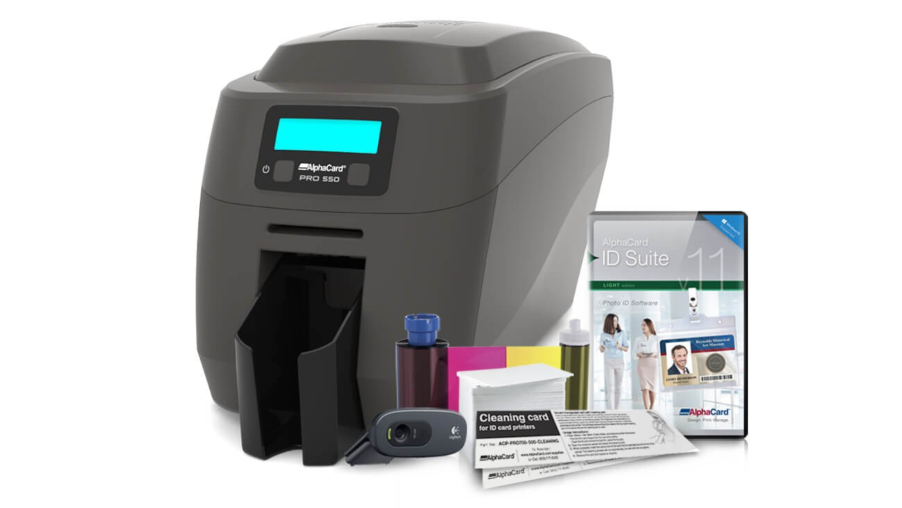 AlphaCard PRO 550 ID Card Printer System