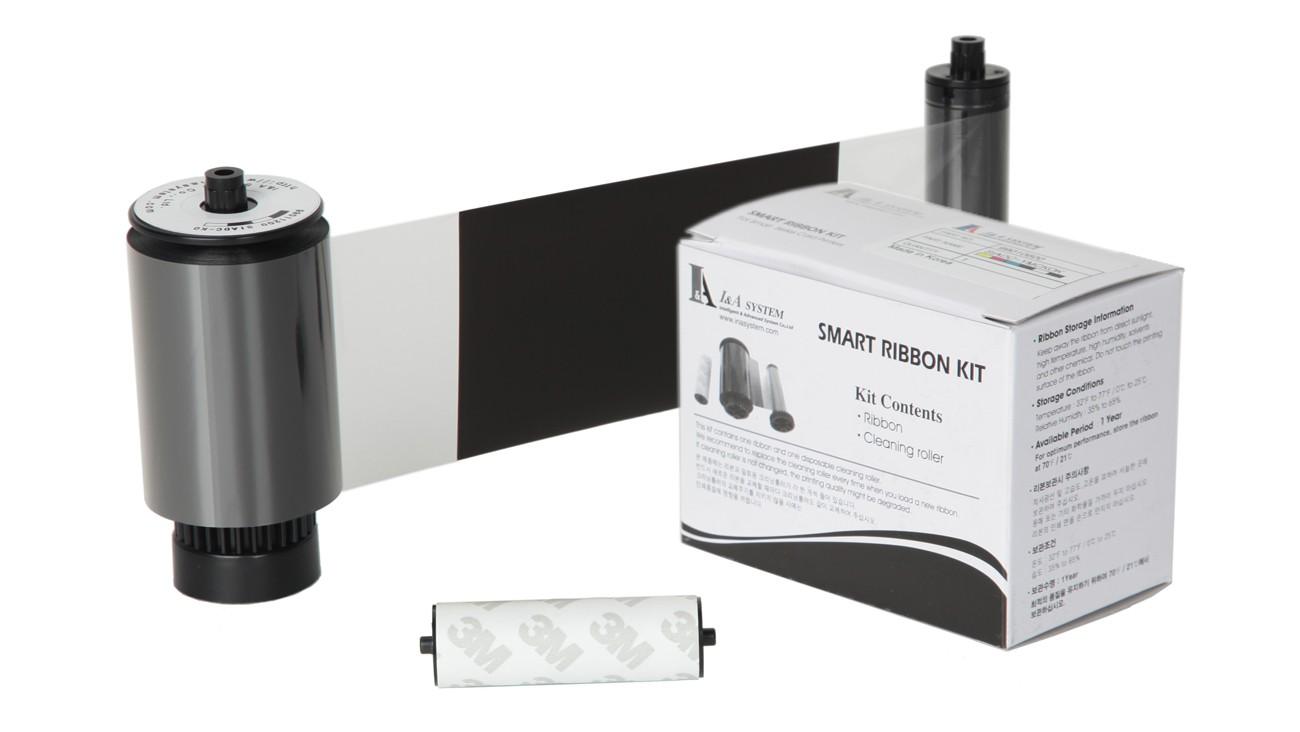IDP Black Monochrome with Overlay Ribbon Kit – 1,500 Prints