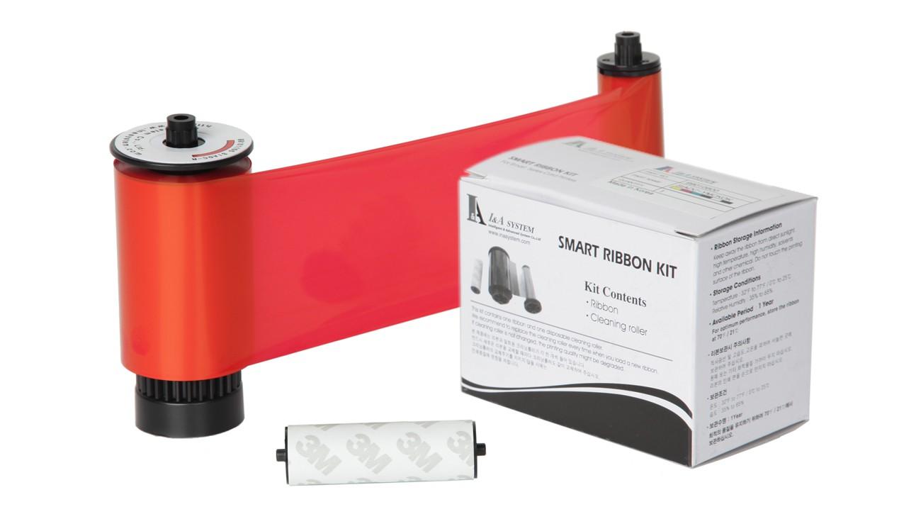 IDP Resin Red Monochrome Ribbon Kit – 3000 Prints