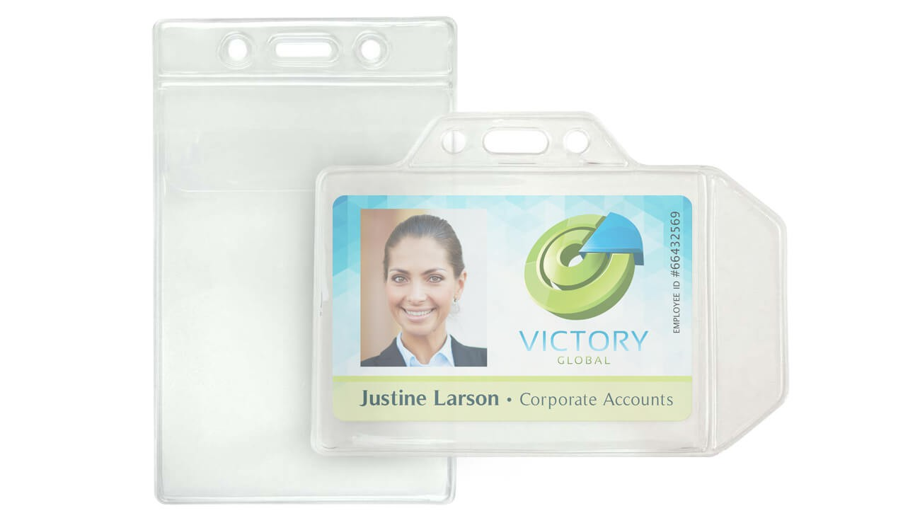 Badge Holders with Flap – Pack of 100