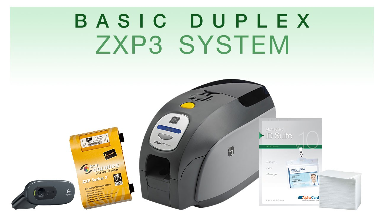 Basic Duplex High Speed ID Card System
