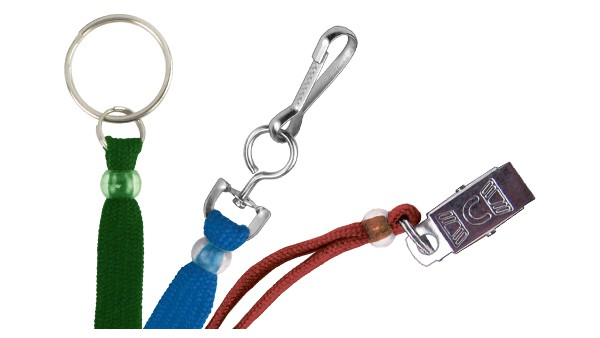 "Standard 3/8"" Flat Polyester Lanyards – Pack of 100"