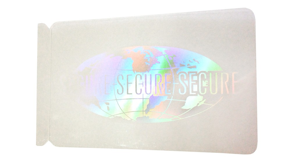 Globe Self-Adhesive Hologram Overlay - Pack of 100