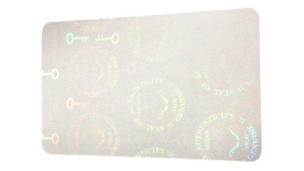 Seal of Authenticity Self-Adhesive Hologram Overlay