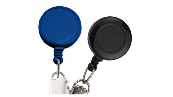 Round Badge Reels with Card Clamp