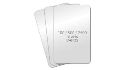 Standard Blank PVC Cards, CR80 30mil