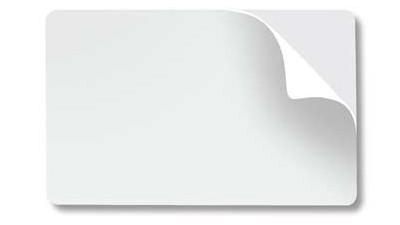 Mylar Adhesive-Back Blank PVC Cards, CR80 10mil
