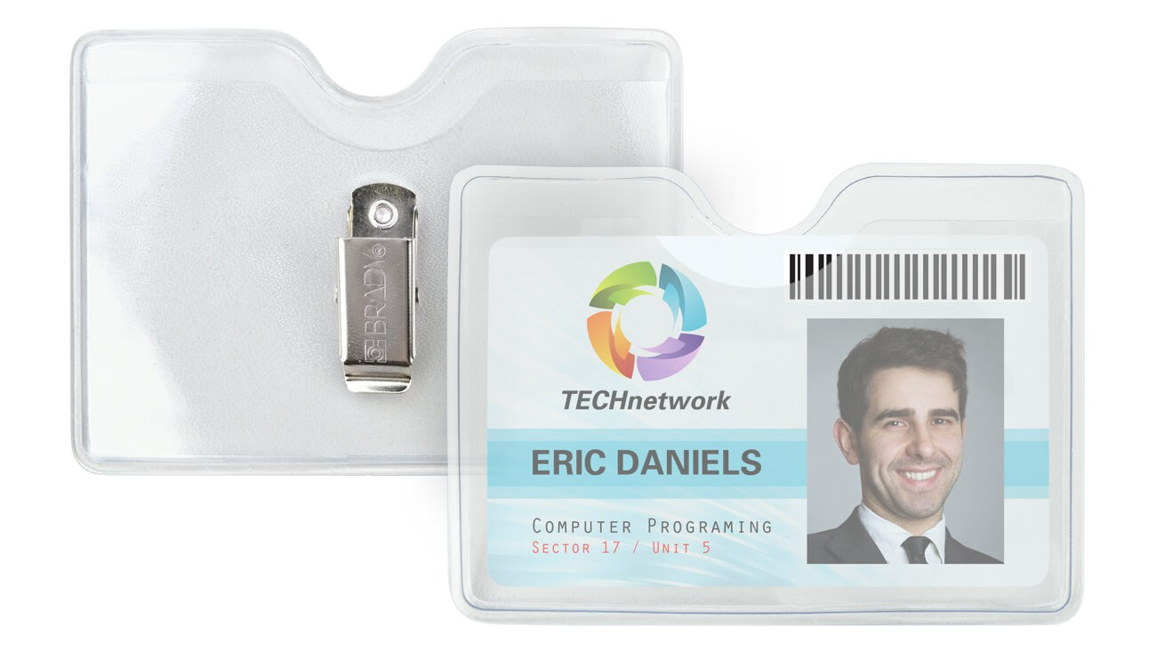 Clothing-Friendly Clip-On Badge Holders – Pack of 100.