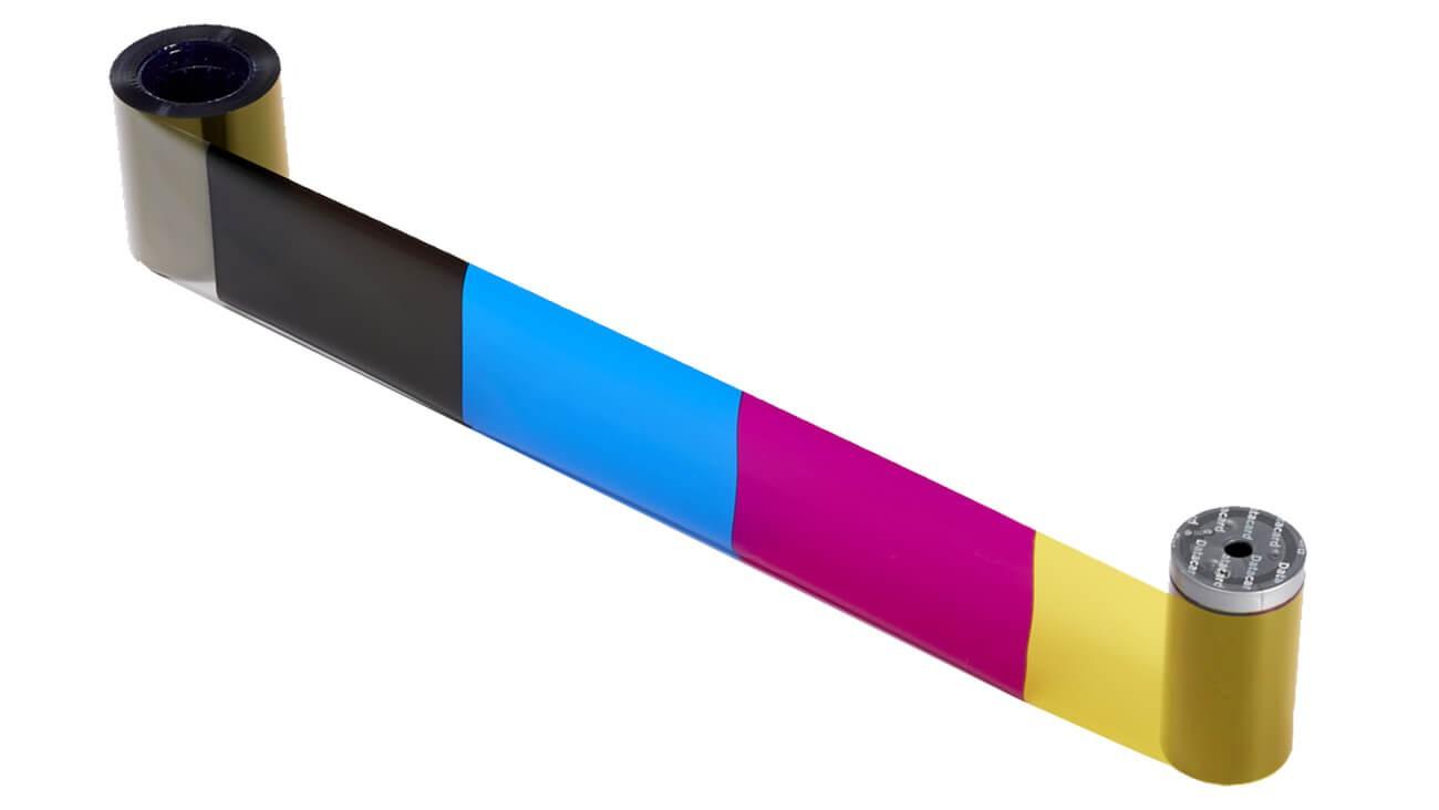 Entrust Datacard 534000-112 YMCKT Full Color Printer Ribbon With Cleaning Kit